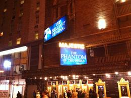 Photo of New York City Phantom of the Opera On Broadway Outside Majestic Theathre