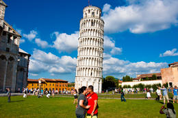 My wife and I during our once in a lifetime trip to Pisa... , Jigs - September 2011