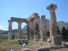 Photo of Athens Wine Tasting and Ancient Corinth Day Trip from Athens Temple of Apollo