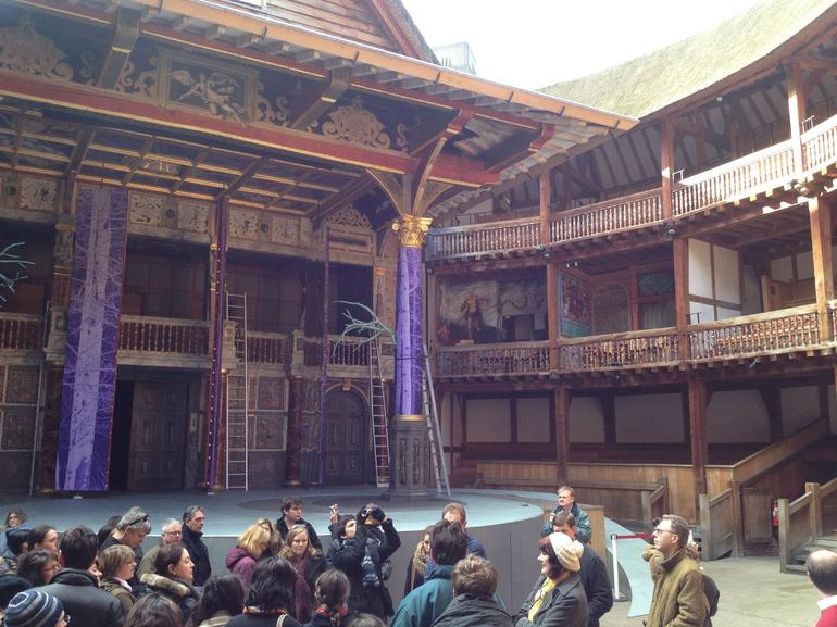 The inside of the Globe - London