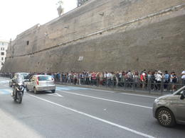 Photo of   A portion of the line to enter Vatican City