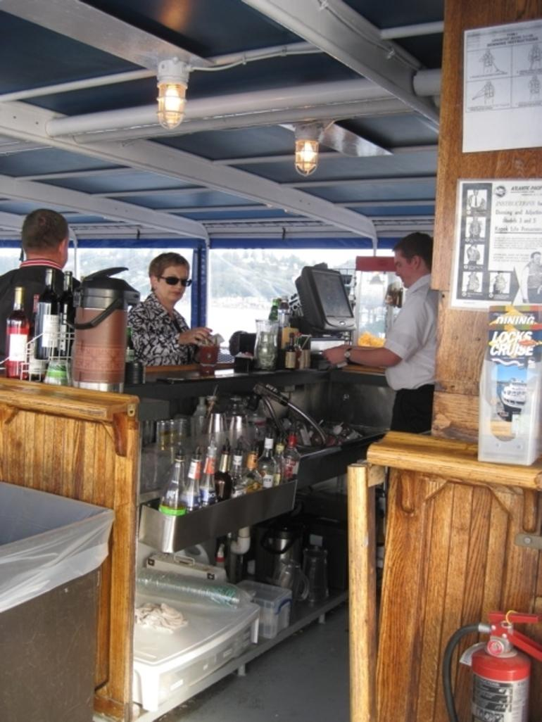 Bar on the boat on the way over to Tilllicum - Seattle