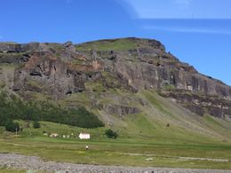 The bus drove past basalt cliffs for about 1/2 hour. Also passed many, many small waterfalls and some spectacular rivers. , Donald K - August 2015