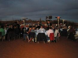 Sounds of Silence dinner at Ayers Rock, Ann C - July 2009