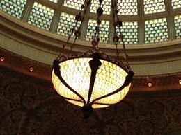 Photo of Chicago Chicago Walking Tour: Tiffany Art Glass Landmarks Dome and chandelier has fish scale