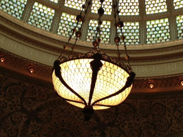 Dome and chandelier has fish scale - Chicago