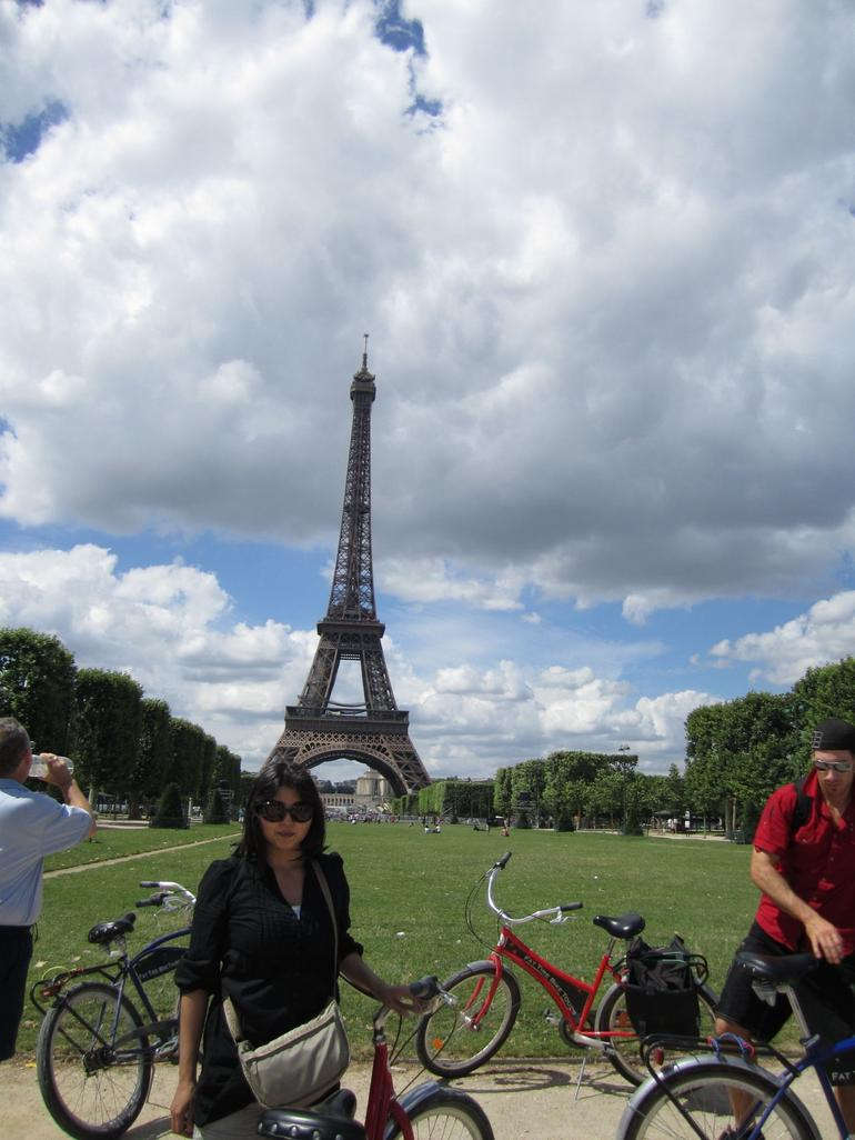 Eiffel Tower on Paris Bike Tour - Paris