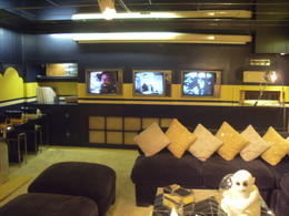 TV room -Elvis liked to watch 3 tv's at the same time! , Tracey C - November 2012