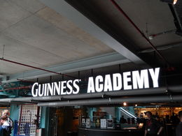 getting a certificate for pouring the best pint from the Guinness academy , Nidale T - September 2015