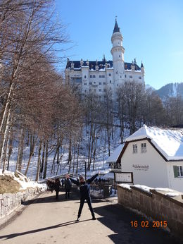 Photo of   Happy to arrive at Neuschwanstein Castle