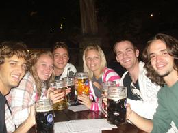 Our new friends at Hofbrauhaus! We had a great time together!, Andrew B - August 2009