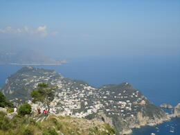 View of the island from the highest point in Capri , Pirate4 - July 2011