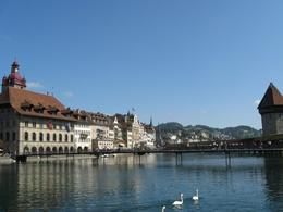 View of Lucerne, with the Chapel Bridge - September 2009