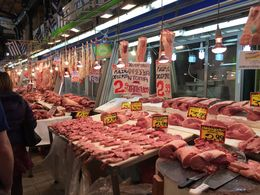 Walk through the meat market in Athens , Isabel E - January 2016