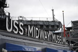 Photo of San Diego USS Midway Museum Sign