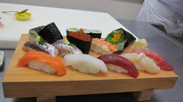 Photo of Tokyo Sushi Making and Tsukiji Fish Market Morning Tour from Tokyo sushi chef teacher
