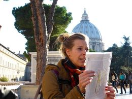Lyndy, our guide. A Dutch girl doing her PHD on Vatican studies. She kept us enthralled and really made our tour. , Di - January 2016
