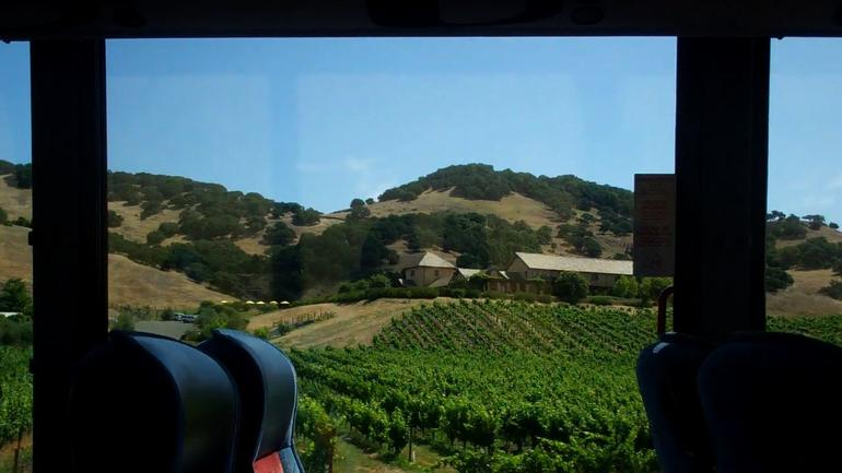 View from the bus - Napa and Sonoma Wine Country Tour - San Francisco