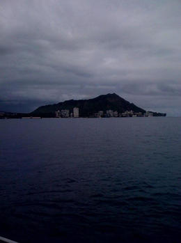 View of Diamond Head on the way out to the sub., Bandit - February 2011