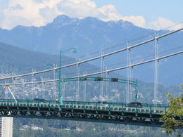 Looking through Lion's Gate Bridge at Point Lookout in Stanley Park , Katherine H - August 2015