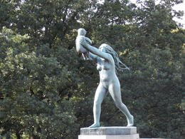One of the many fascinating statues in Vigeland Sculpture Park , sealover - October 2012