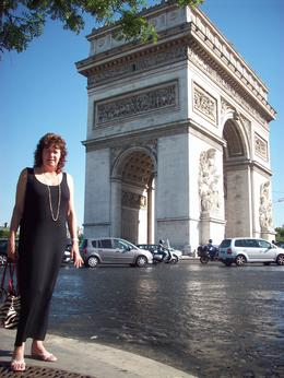 Jean at the Arc de Triophe enjoying a fantastic holiday in Paris with her husband., Jean M - July 2010