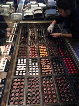 Photo of Brussels Brussels Chocolate Walking Tour and Workshop Chocolates at Pierre Marcolini