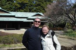 Us at the Imperial Palace East Garden., Tyrone P - February 2008