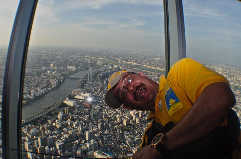 INSIDE SKY TREE TOWER AT THE 455TH FLOOR - Tokyo