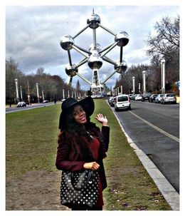 L'avenue de L'atomium :) , Angelica L - March 2015