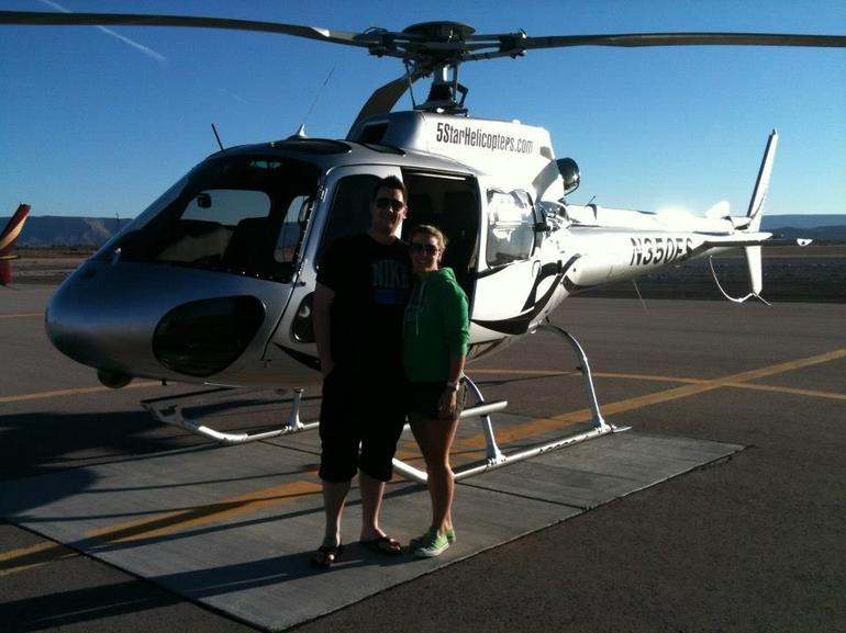 Lizzie and Steve do the Canyon in style! - Las Vegas