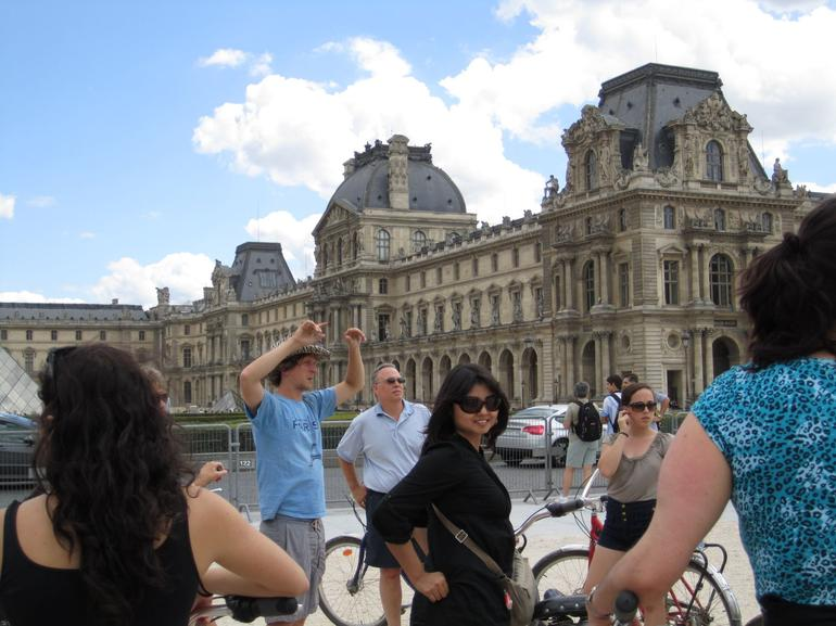 Paris by Bike: Outside the Louvre - Paris