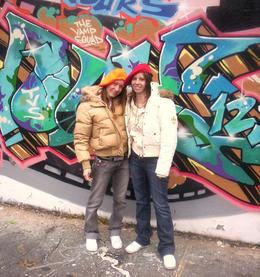 Me and my best friend in The Bronx on a hip hop tour of New York. - November 2007