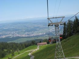 Taking the aerial cable car up to Mount Pilatus - September 2009