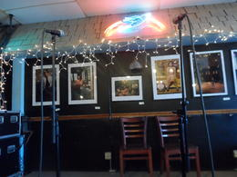 The stage at The Bluebird! , Natalie - April 2014