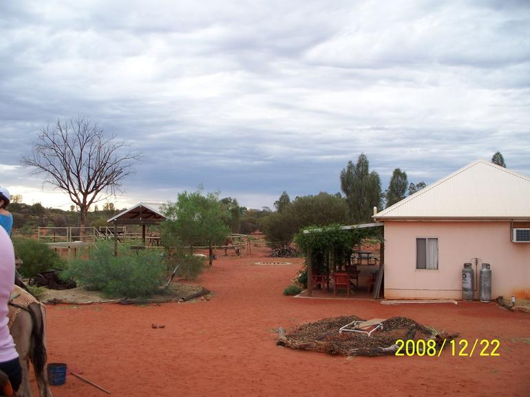 The area were we started out - Ayers Rock
