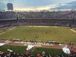 Great seats and a beautiful night - watched the sun set behind the famous El Monumental stadium, Bandit - May 2014