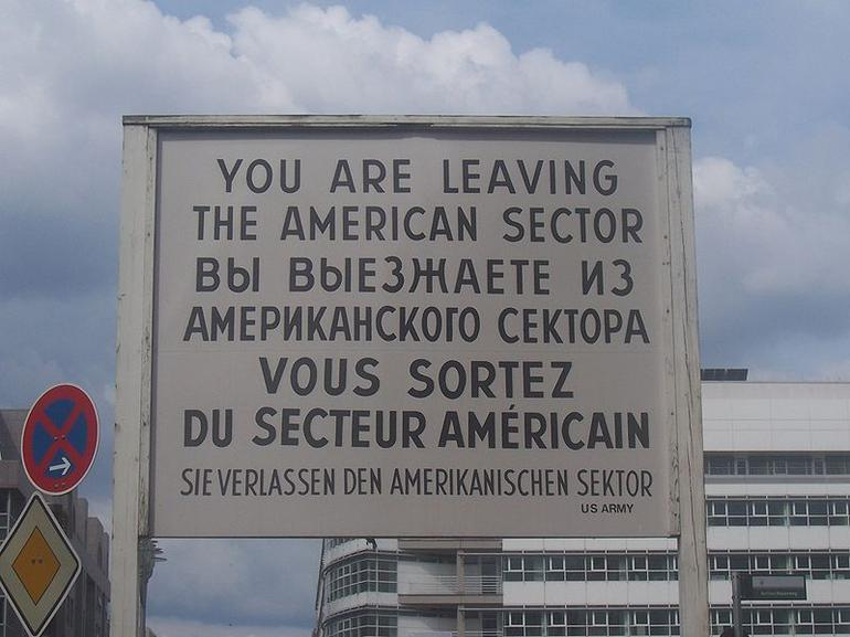 Checkpoint Charlie sign - Berlin
