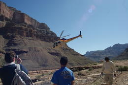 Watching helicopter leave us in the Canyon.... , Alan W - March 2011