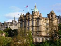 The headquarters for the Bank of Scotland overlooking the Prince's Garden. , Bruce - June 2011