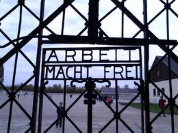 Photo of Munich Dachau Concentration Camp Memorial Small Group Tour from Munich front gate