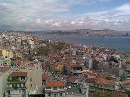 from Galata tower city panorama. Ticket 10 TL. Worth paying it - May 2009