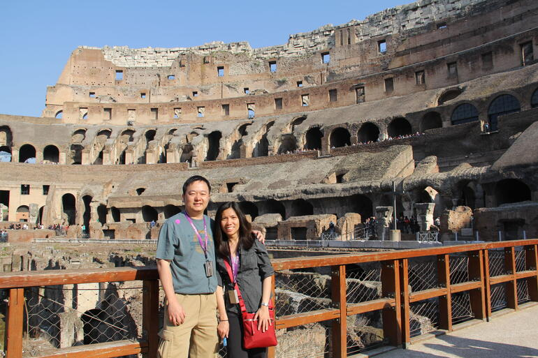 Inside the Colosseum during the Small-Group Ancient Rome and Colosseum Tour - Rome