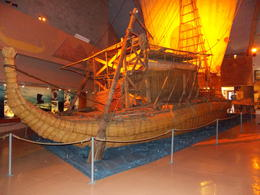 Kon tiki raft in the kon tiki museum , sealover - October 2012