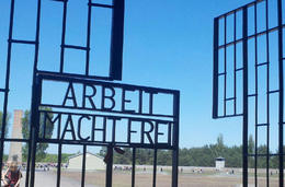 Photo of Berlin Sachsenhausen Concentration Camp Memorial Walking Tour Main Entrance Tower Gate