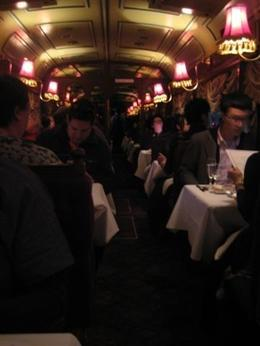 A photo of the inside of the tram, very smooth and romantic. - October 2009