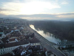 The view of Danube from the castle , Suvo - December 2013