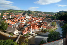View from the castle at Cesky Krumlov - May 2011
