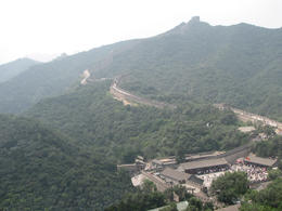 Panoramic view of the Great Wall weaving through the forest., Bandit - May 2012