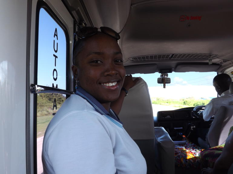 Claudine, our Wonderful Tour Guide - Montego Bay